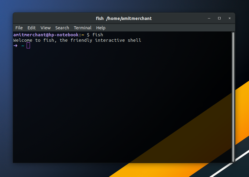 Add auto-completion in Bash terminal using Fish shell