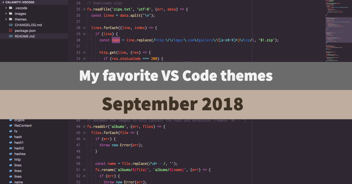vs code color themes